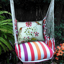 "Hummingbird Hammock Chair Swing ""Cristina Stripe"" | Magnolia Casual | CRHULV-SP"