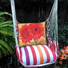 "Gerberas Hammock Chair Swing ""Cristina Stripe"" | Magnolia Casual | CRTCRGP-SP"