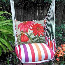 "Flower Hammock Chair Swing ""Cristina Stripe"" | Magnolia Casual | CRTC508-SP"