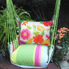 "Bird with Flower Hammock Chair Swing ""Fresh Lime"" 