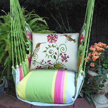 "Hummingbird Hammock Chair Swing ""Fresh Lime"" 