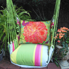 "Red Flower Hammock Chair Swing ""Fresh Lime"" 