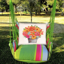 "Flower Pot Hammock Chair Swing ""Fresh Lime"" 
