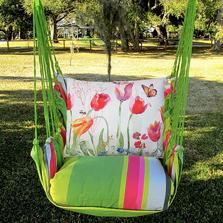 "Tulip Hammock Chair Swing ""Fresh Lime"" | Magnolia Casual | FLGG504-SP"
