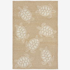 Turtle Pattern Neutral Area Rug | Trans Ocean | CAP46163412