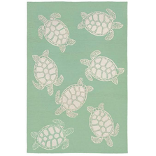 Turtle Pattern Mint Green Area Rug | Trans Ocean | CAP46163406