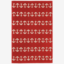 Anchor Pattern Red Area Rug | Trans Ocean | CAP46166424