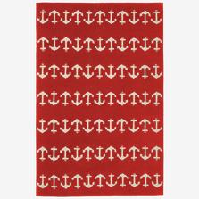 Anchor Pattern Red Area Rug | Trans Ocean | CAP46166424