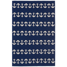 Anchor Pattern Navy Area Rug | Trans Ocean | CAP46166433