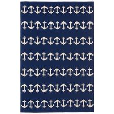 Anchor Pattern Navy Area Rug | Trans Ocean | CAP46166433