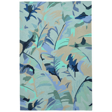 Palm Leaf Blue Area Rug | Trans Ocean | CAP46166803