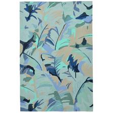 Palm Leaf Blue Area Rug | Trans Ocean | CAP46166803