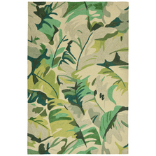 Palm Leaf Green Area Rug | Trans Ocean | CAP46166806