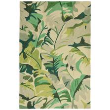 Palm Leaf Green Area Rug | Trans Ocean | CAP46166806