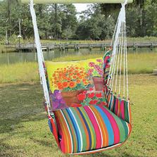"""Flower Pot Hammock Chair Swing """"Le Jardin""""   Magnolia Casual   LJBC603-SP"""