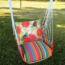 "Bird and Flower Hammock Chair Swing ""Le Jardin"" 