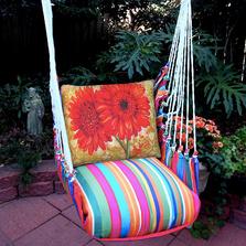 "Gerberas Hammock Chair Swing ""Le Jardin"" | Magnolia Casual | LJTCRGP-SP"