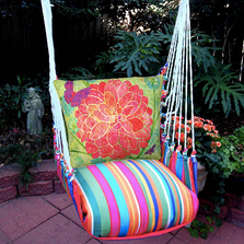 "Red Flower Hammock Chair Swing ""Le Jardin"" 
