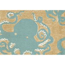 Octopus Aqua Accent Rug | Trans Ocean | FTP34143204