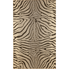 Zebra Charcoal Area Rug | Trans Ocean | TER45171267
