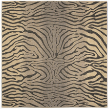 Zebra Charcoal Square Area Rug | Trans Ocean | TERS8171267Sq
