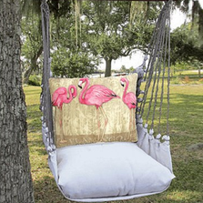 "Flamingo Hammock Chair Swing ""Latte"" 