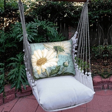"Daisy Hammock Chair Swing ""Latte"" 
