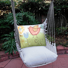 "Bird Hammock Chair Swing C'est La Vie ""Latte"" 