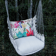"Flower Hammock Chair Swing ""Latte"" 