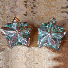 Starfish Verdigris Leverback Wire Earrings | Elaine Coyne Jewelry | ecgOCP51e