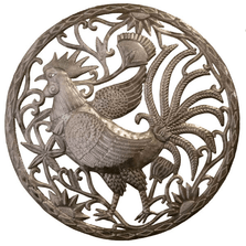 Rooster Recycled Steel Drum Wall Art | Le Primitif