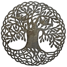 Elder Tree Recycled Steel Drum Wall Art | Le Primitif