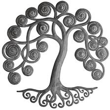 Curly Tree Recycled Steel Drum Wall Art | Le Primitif