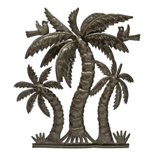 Palm Tree Recycled Steel Drum Wall Art | Le Primitif