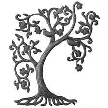 Filigree Tree and Birds Recycled Steel Drum Wall Art | Le Primitif