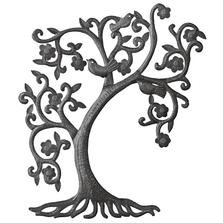 Filigree Tree and Birds Recycled Steel Drum Wall Art | Le Primitif
