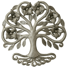 Tree with Blossoms Recycled Steel Drum Wall Art | Le Primitif