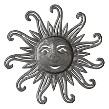 Hollow Flare Sun Recycled Steel Drum Wall Art   Le Primitif