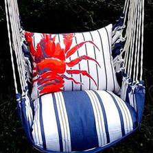 "Red Lobster Hammock Chair Swing ""Marina"" | Magnolia Casual | MAML-SP-2"