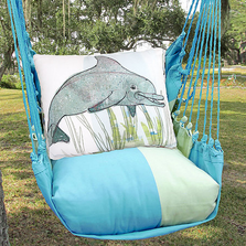 "Dolphin Hammock Chair Swing ""Meadow Mist"" 