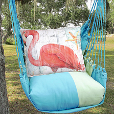 "Flamingo Hammock Chair Swing ""Meadow Mist"" | Magnolia Casual | MMSW804-SP-2"