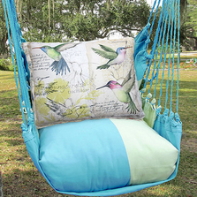 "Hummingbird Hammock Chair Swing ""Meadow Mist"" 
