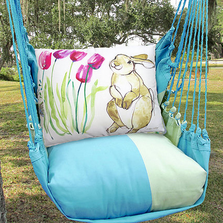 "Bunny Hammock Chair Swing ""Meadow Mist"" 