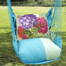 "Hydrangea Hammock Chair Swing ""Meadow Mist"" 