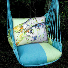"Fish Hammock Chair Swing ""Meadow Mist"" 
