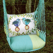 "Bluebird Hammock Chair Swing ""Meadow Mist"" 