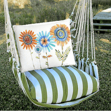 "Daisy Hammock Chair Swing ""Summer Palm"" 