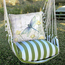 "Dragonfly Hammock Chair Swing ""Summer Palm"" 