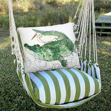 "Alligator Hammock Chair Swing ""Summer Palm"" 
