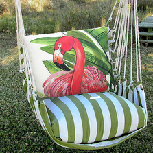"Flamingo Hammock Chair Swing ""Summer Palm"" 